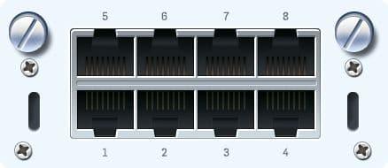Sophos 8x GbE TX Portmodul für SG/XG/UTM 5xx/6xx (Kupfer)