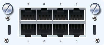 Sophos 8x 1 GbE TX FleXi Portmodul für SG/XG 2xx/3xx/4xx (Kupfer)