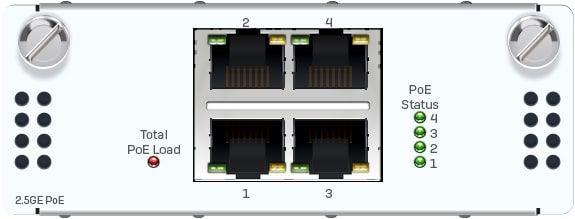 Sophos 4 Port 2,5GbE Kupfer PoE FleXi Port-Modul (nur für XGS 2xxx/3xxx/4xxx Modelle)
