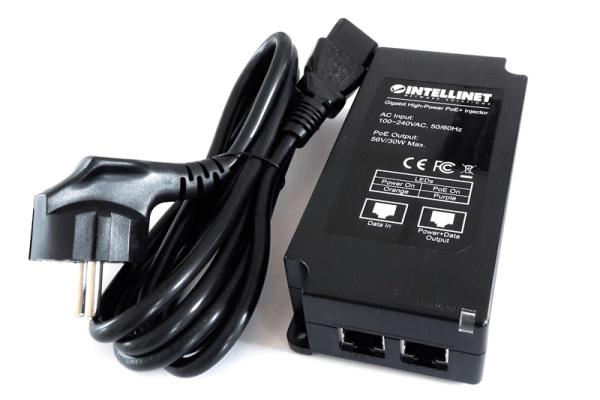 Gigabit PoE+ Injektor 1 x 30 Watt passend für AP15C, AP55 (C) und AP100 (C,X)