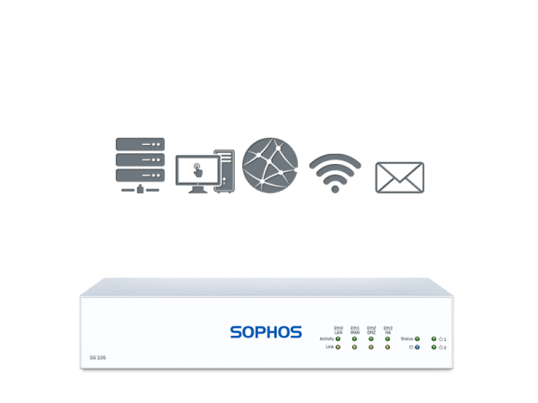 Sophos SG 105 + 1 Jahr BasicGuard Subscription