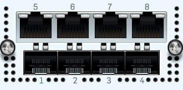Sophos 4x GbE TX + 4x SFP+ FleXi Portmodul 2 Bypass Groups für XG 7xx