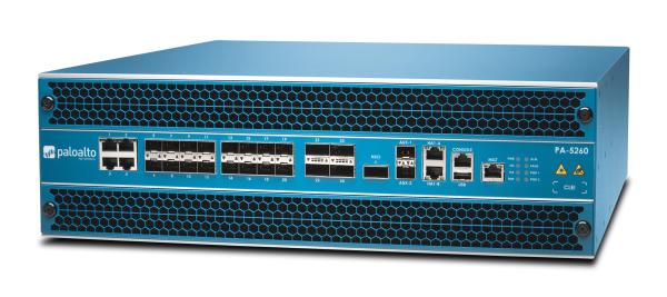 Palo Alto Networks PA-5260 Firewall System bis 68 Gbps mit 2x AC Netzteil