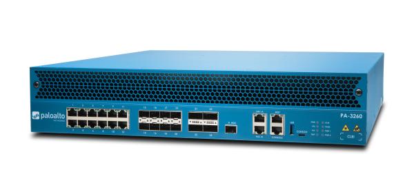 Palo Alto Networks PA-3260 Firewall System 12x Gbit TX, 8x 1/12 Gbit SFP/SFP+, 4x 40 Gbit QSFP+