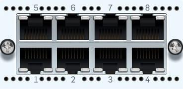 Sophos 8x 1 GbE TX FleXi Portmodul für XG 750 und SG/XG 550/650 rev.2 only