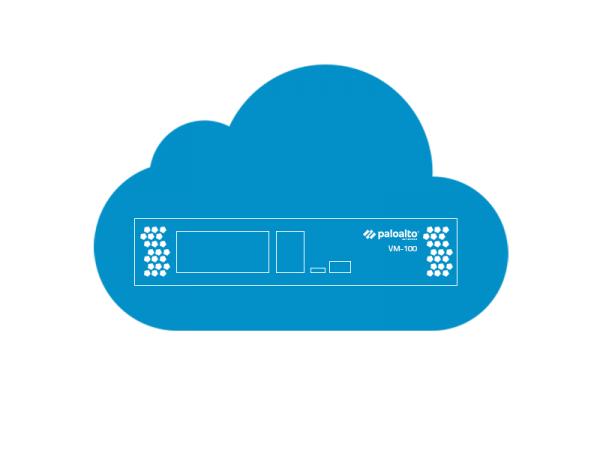 Palo Alto Networks VM-100 Lizenz, 50K Sessions, 25/25 IPSec/SSL Tunnel, 10 Zonen, 250 Regeln