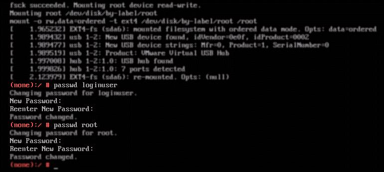 Passwoerter zuruecksetzen via Console